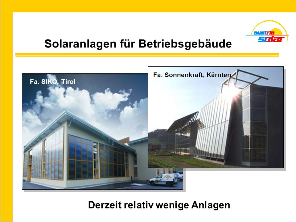 Solaranlagen für Betriebsgebäude
