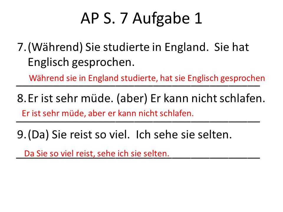 AP S. 7 Aufgabe 1