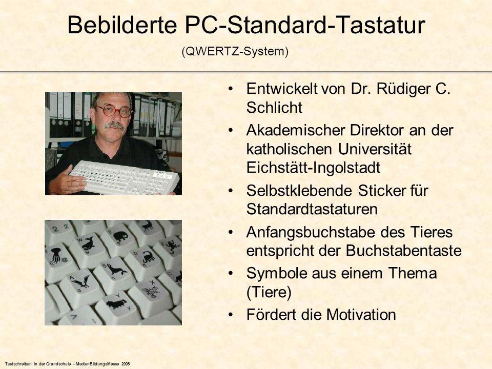 Bebilderte PC-Standard-Tastatur