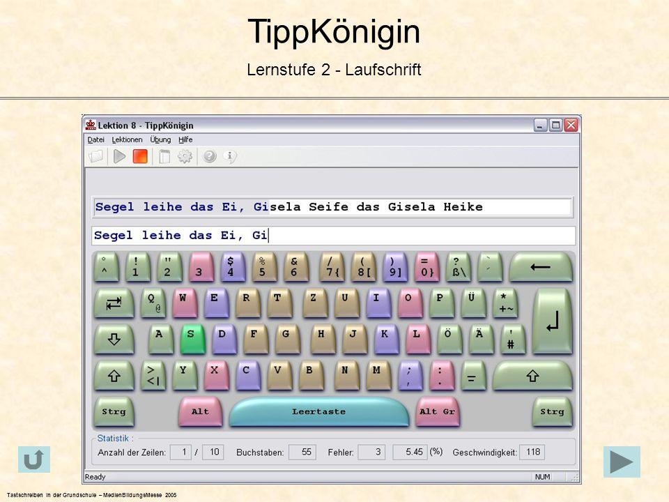 TippKönigin Lernstufe 2 - Laufschrift