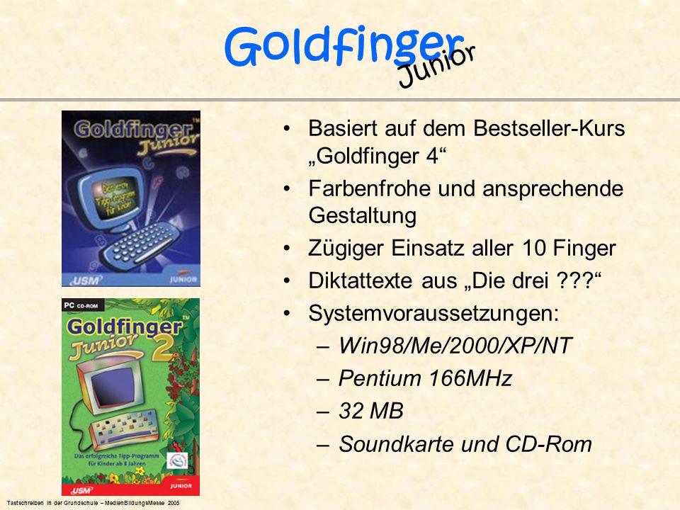 """Goldfinger Junior Basiert auf dem Bestseller-Kurs """"Goldfinger 4"""