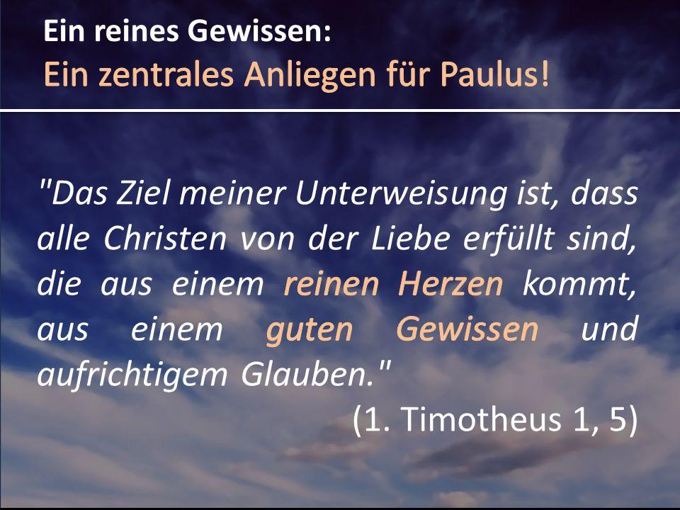 Ein zentrales Anliegen für Paulus!