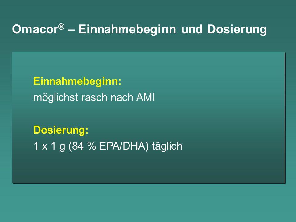 Omacor® – Einnahmebeginn und Dosierung