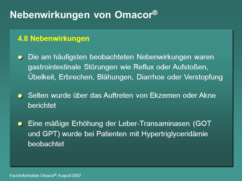 Nebenwirkungen von Omacor®