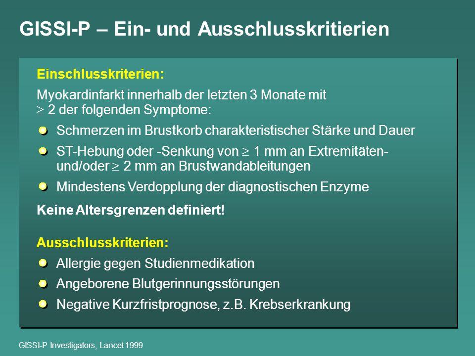 GISSI-P – Ein- und Ausschlusskritierien