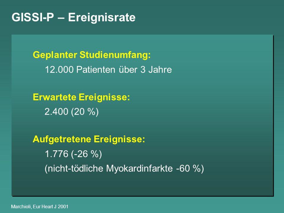 GISSI-P – Ereignisrate