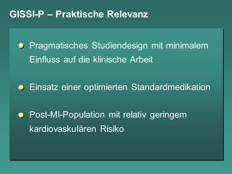 GISSI-P – Praktische Relevanz