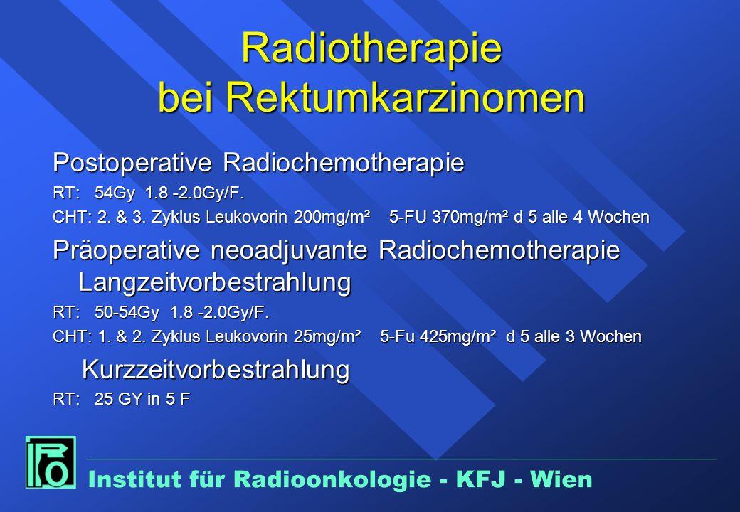 Radiotherapie bei Rektumkarzinomen