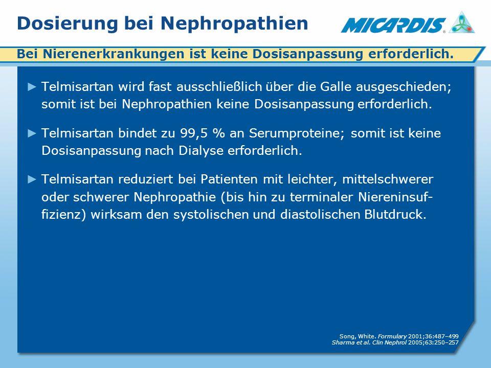 Dosierung bei Nephropathien
