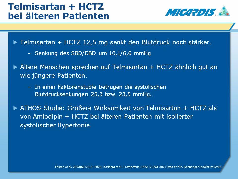 Telmisartan + HCTZ bei älteren Patienten