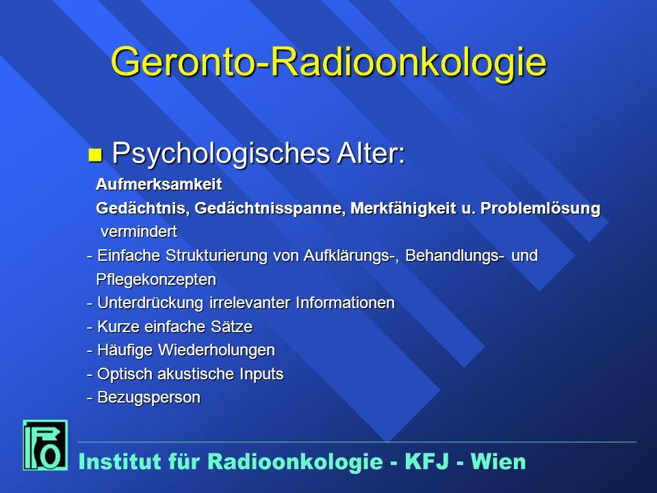 Geronto-Radioonkologie