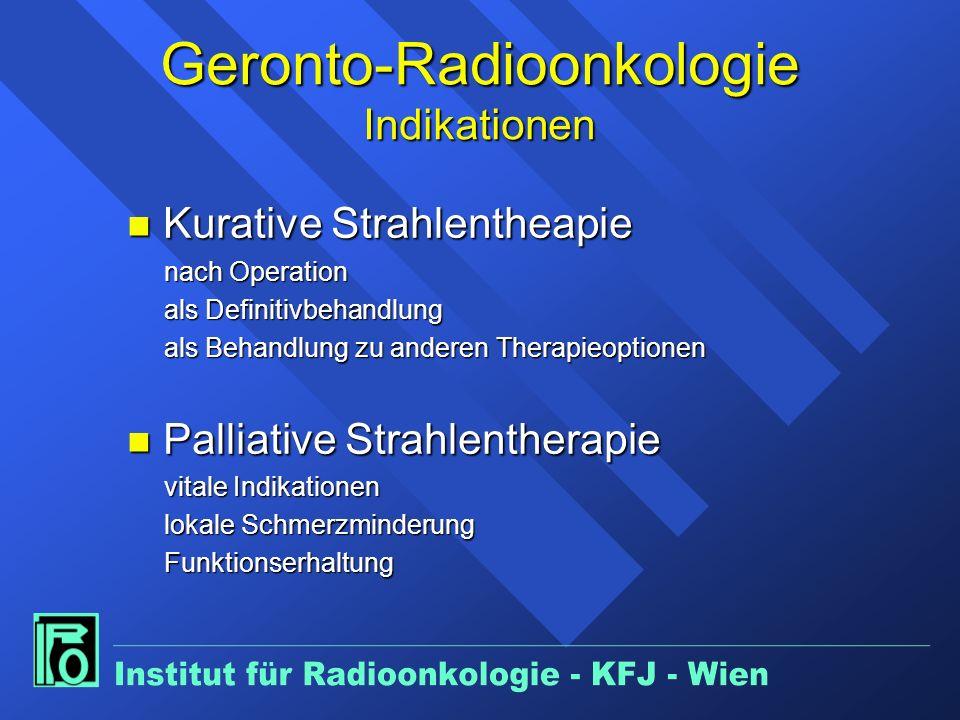 Geronto-Radioonkologie Indikationen
