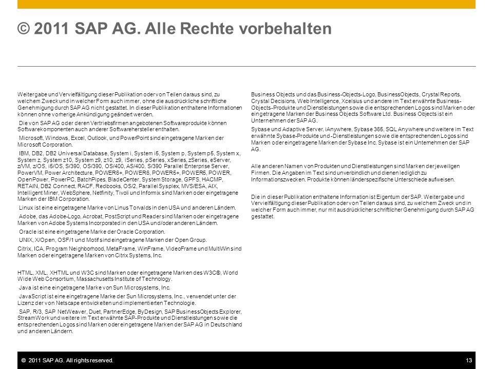 © 2011 SAP AG. Alle Rechte vorbehalten