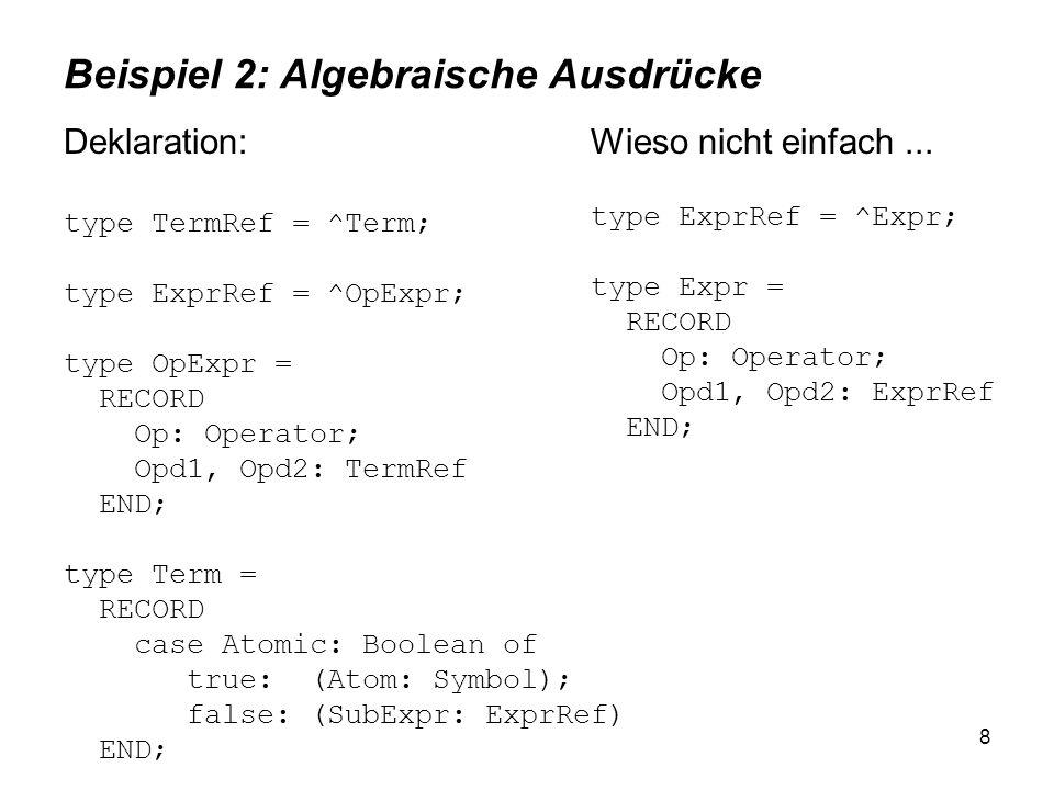 Beispiel 2: Algebraische Ausdrücke