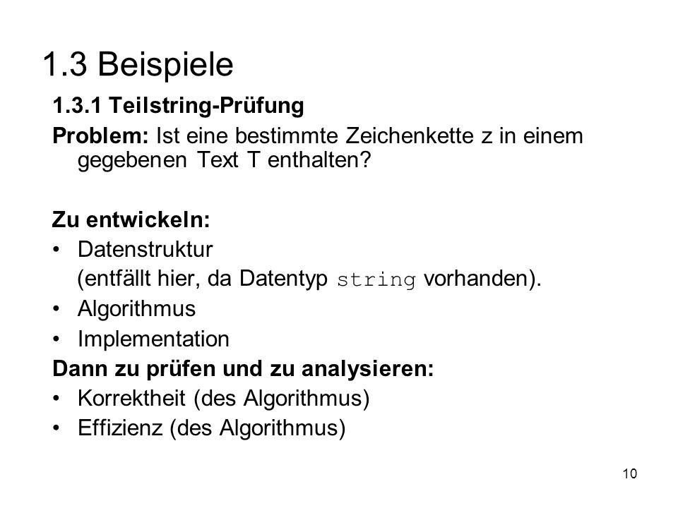 1.3 Beispiele 1.3.1 Teilstring-Prüfung