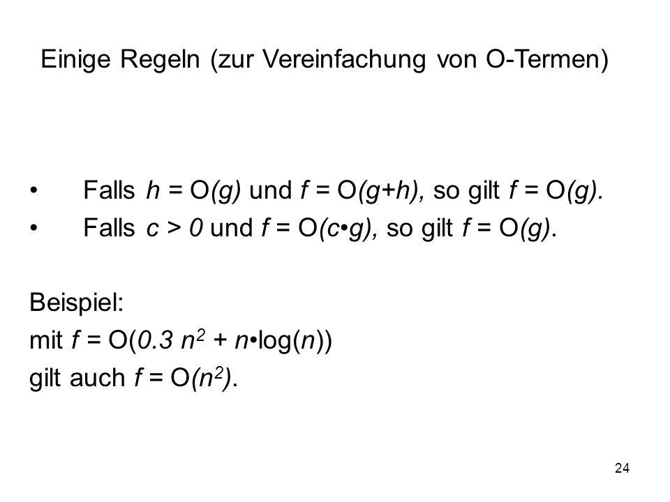 Einige Regeln (zur Vereinfachung von O-Termen)