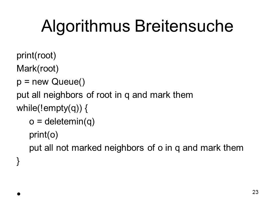 Algorithmus Breitensuche