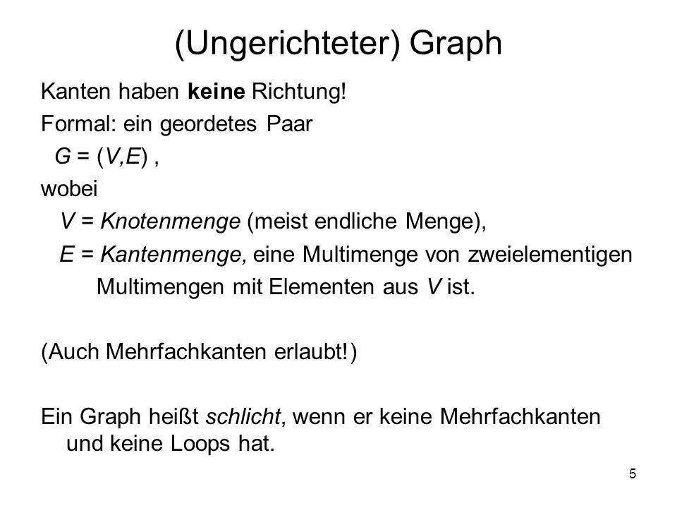 (Ungerichteter) Graph