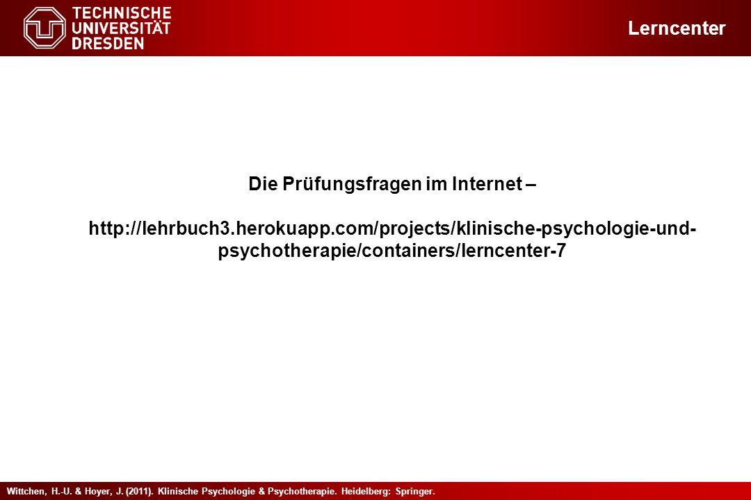 Die Prüfungsfragen im Internet –
