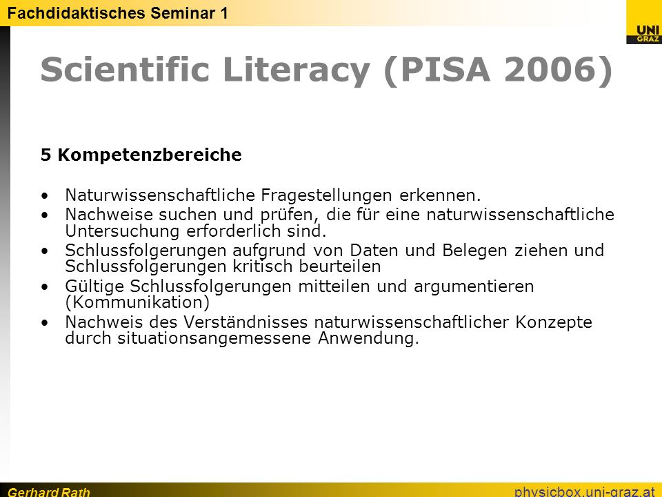 Scientific Literacy (PISA 2006)