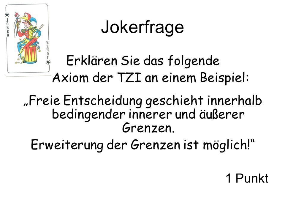 Jokerfrage Erklären Sie das folgende Axiom der TZI an einem Beispiel: