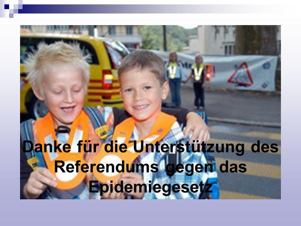 Danke für die Unterstützung des Referendums gegen das Epidemiegesetz