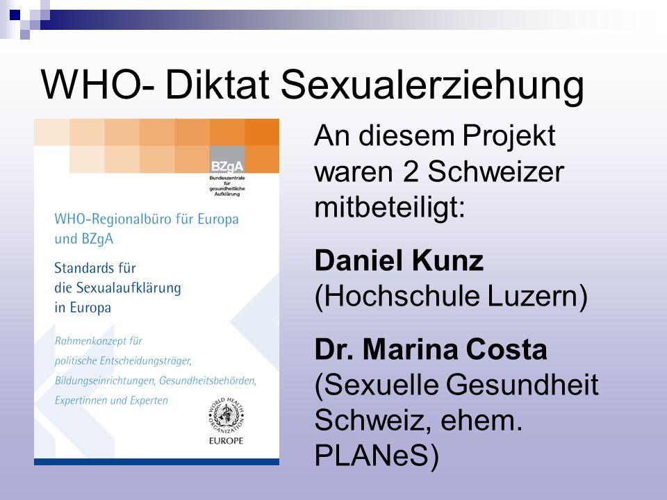 WHO- Diktat Sexualerziehung