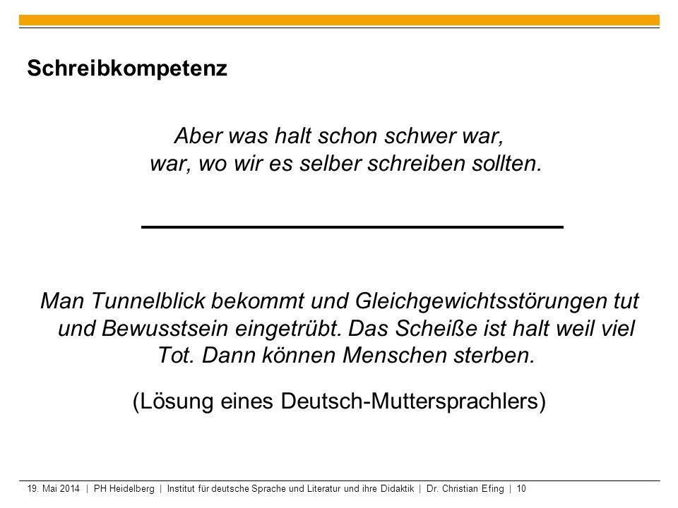 (Lösung eines Deutsch-Muttersprachlers)