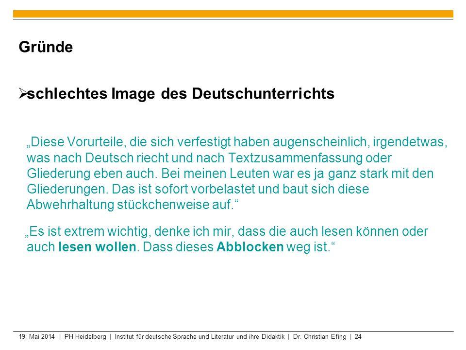 schlechtes Image des Deutschunterrichts