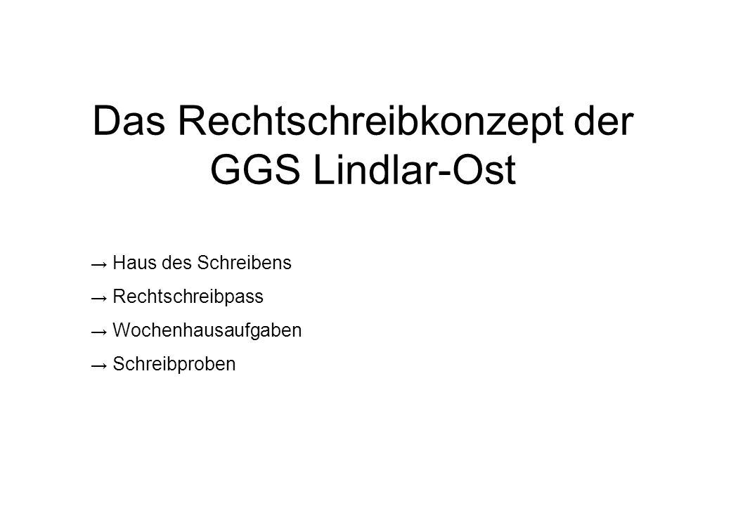 Das Rechtschreibkonzept der GGS Lindlar-Ost