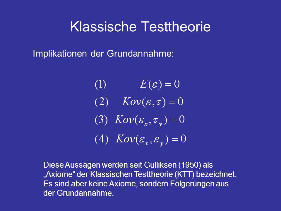 Klassische Testtheorie