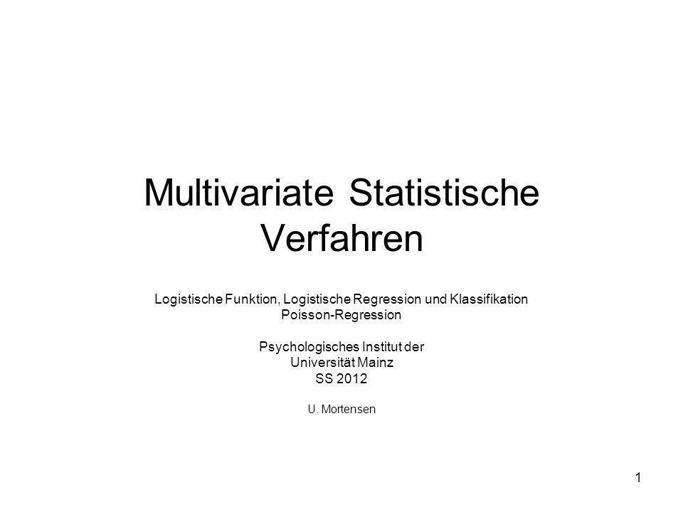 Multivariate Statistische Verfahren