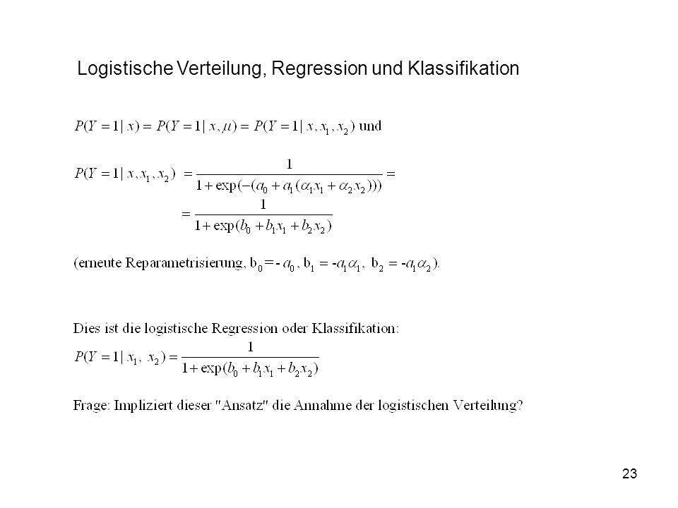 Logistische Verteilung, Regression und Klassifikation