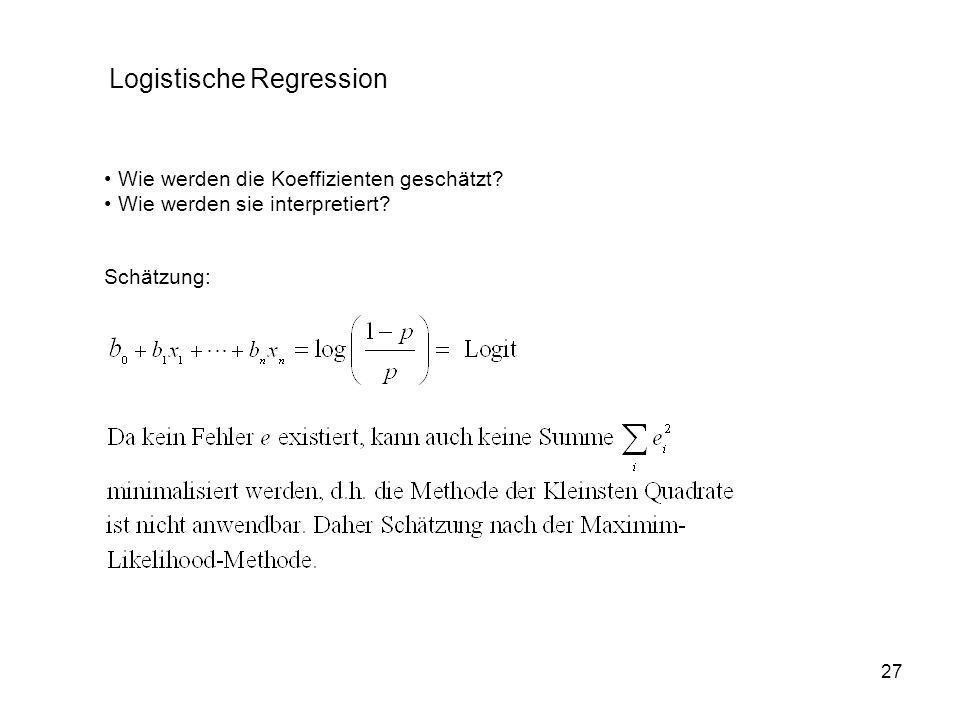 Logistische Regression