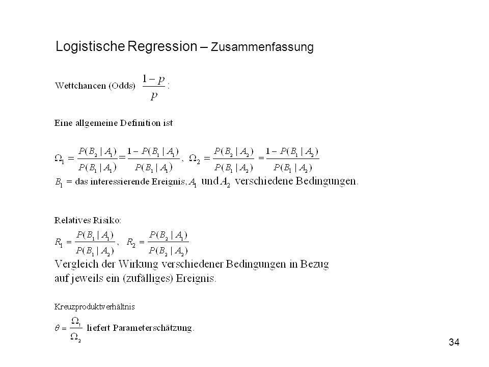 Logistische Regression – Zusammenfassung
