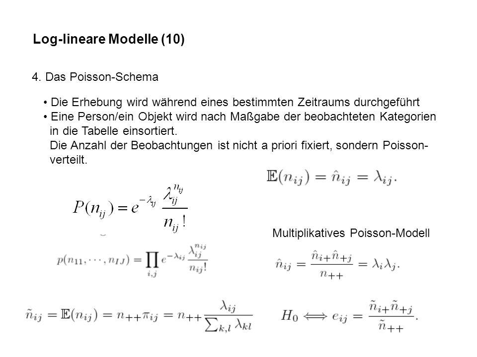 Log-lineare Modelle (10)