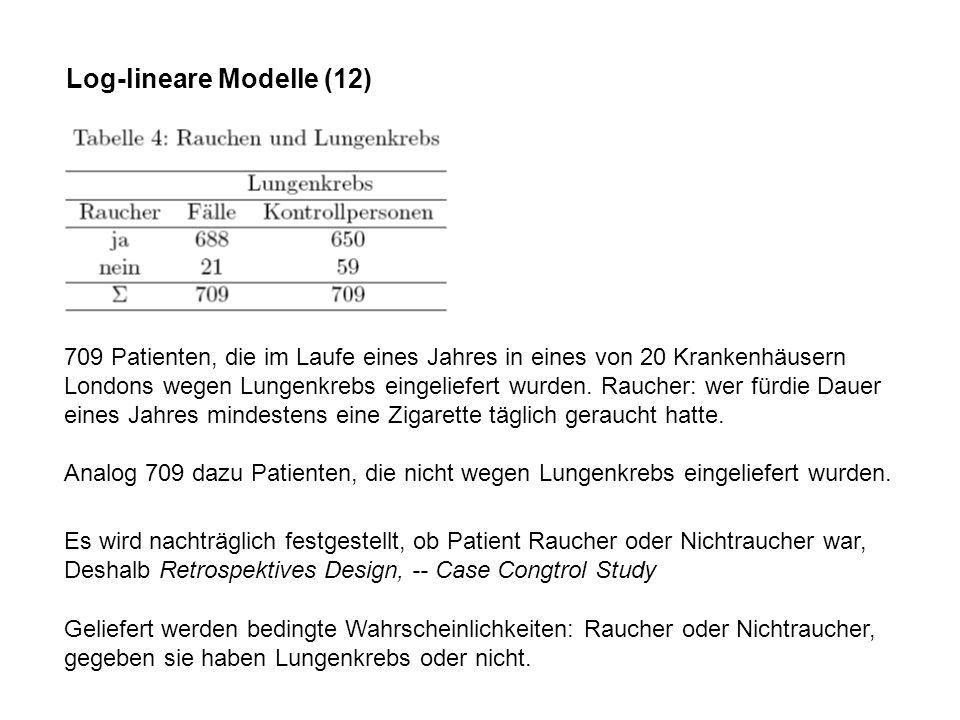 Log-lineare Modelle (12)