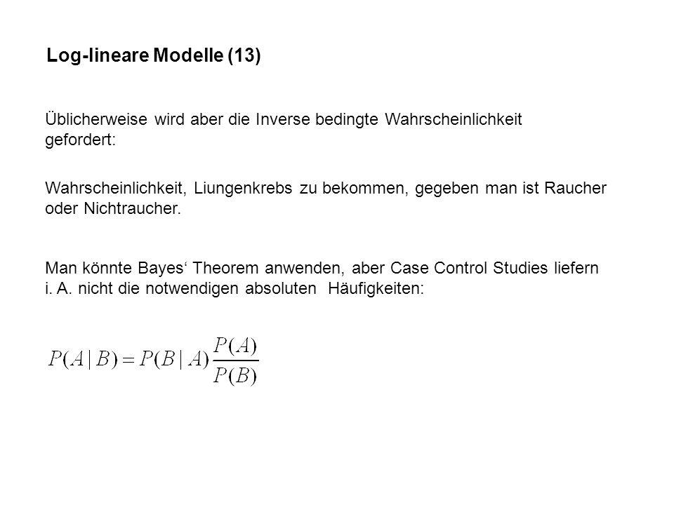 Log-lineare Modelle (13)