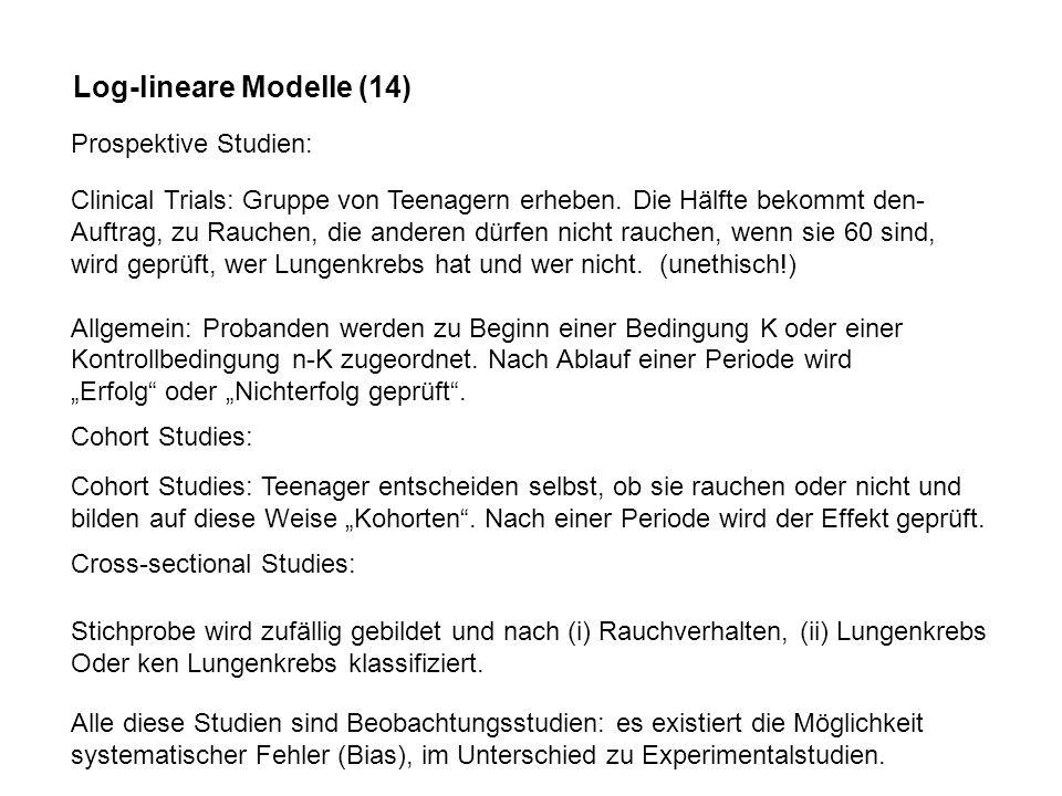 Log-lineare Modelle (14)
