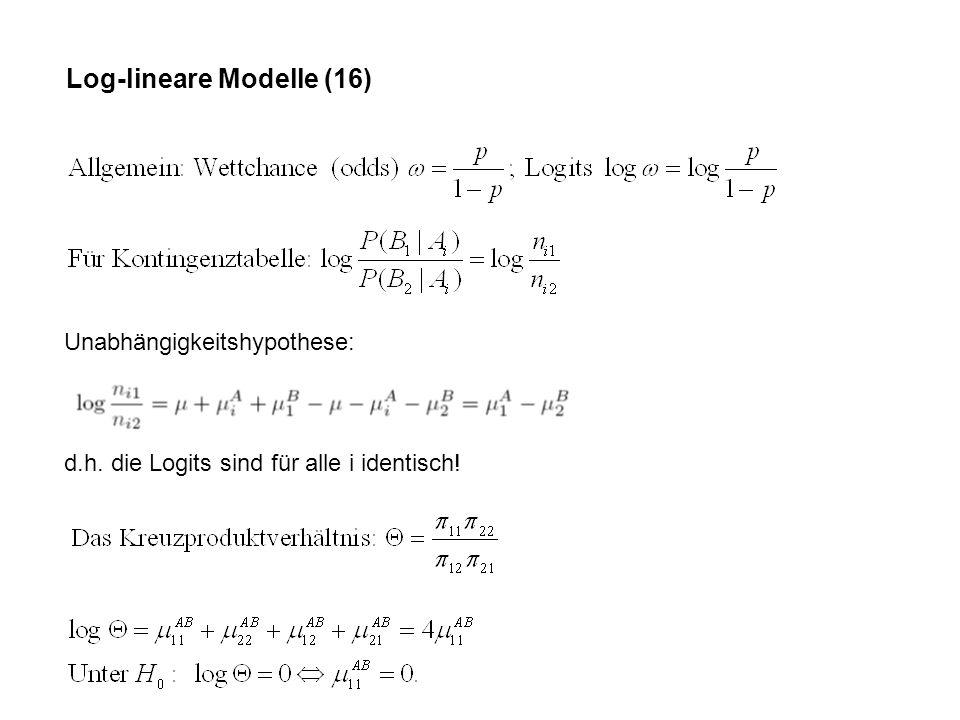 Log-lineare Modelle (16)