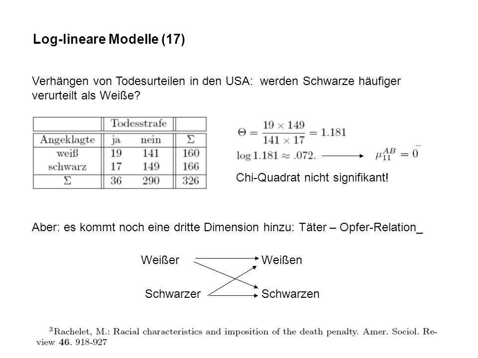Log-lineare Modelle (17)