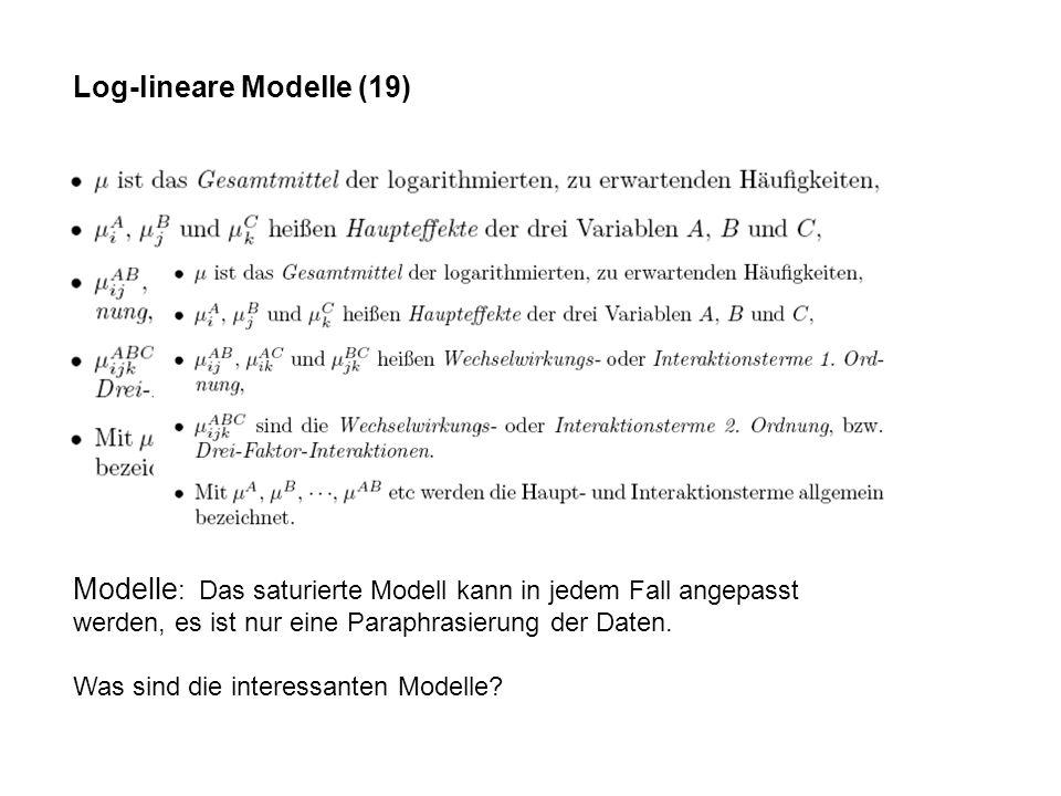 Log-lineare Modelle (19)