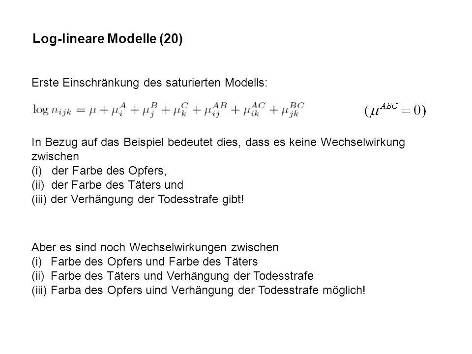 Log-lineare Modelle (20)