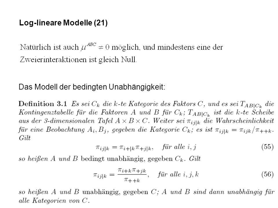 Log-lineare Modelle (21)