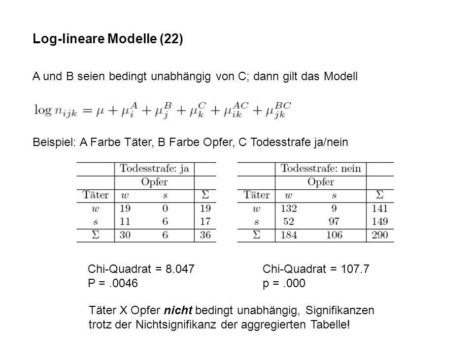 Log-lineare Modelle (22)