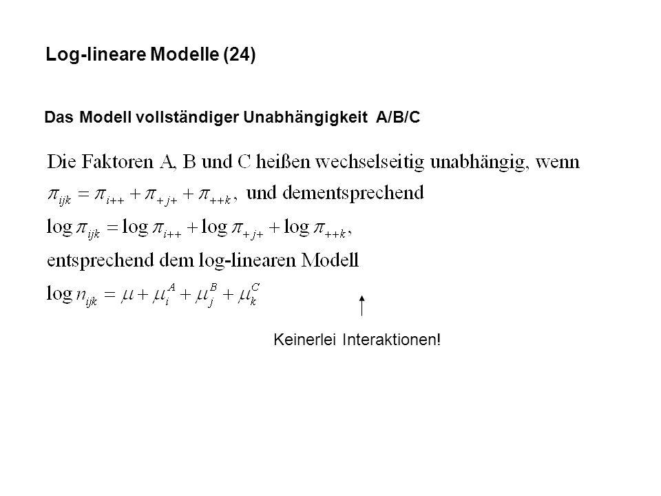 Log-lineare Modelle (24)