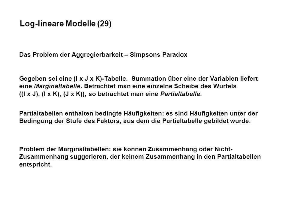 Log-lineare Modelle (29)