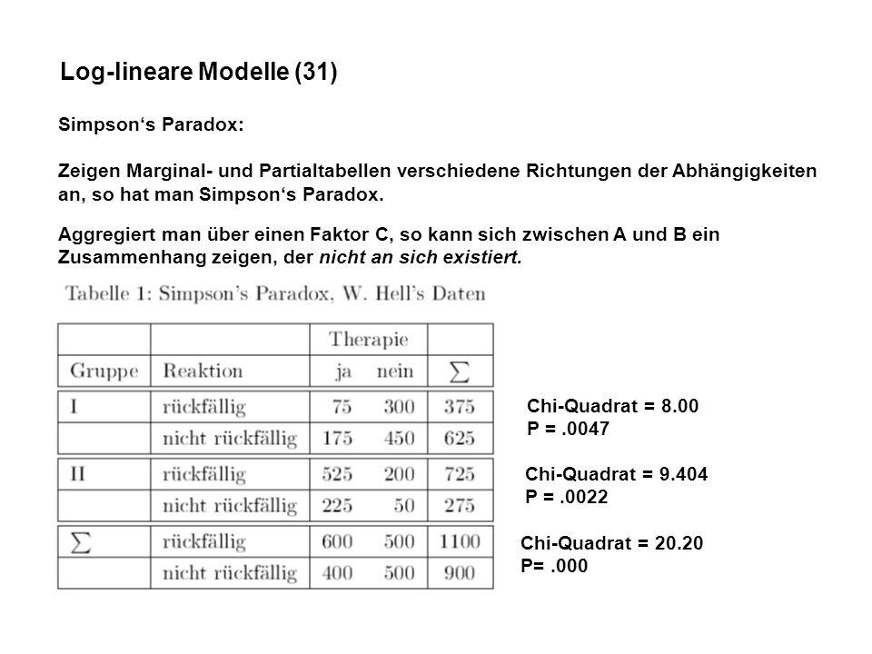 Log-lineare Modelle (31)