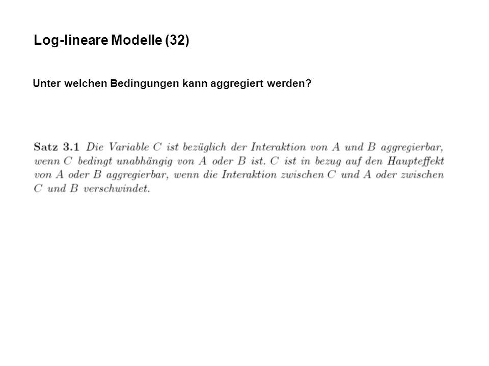 Log-lineare Modelle (32)