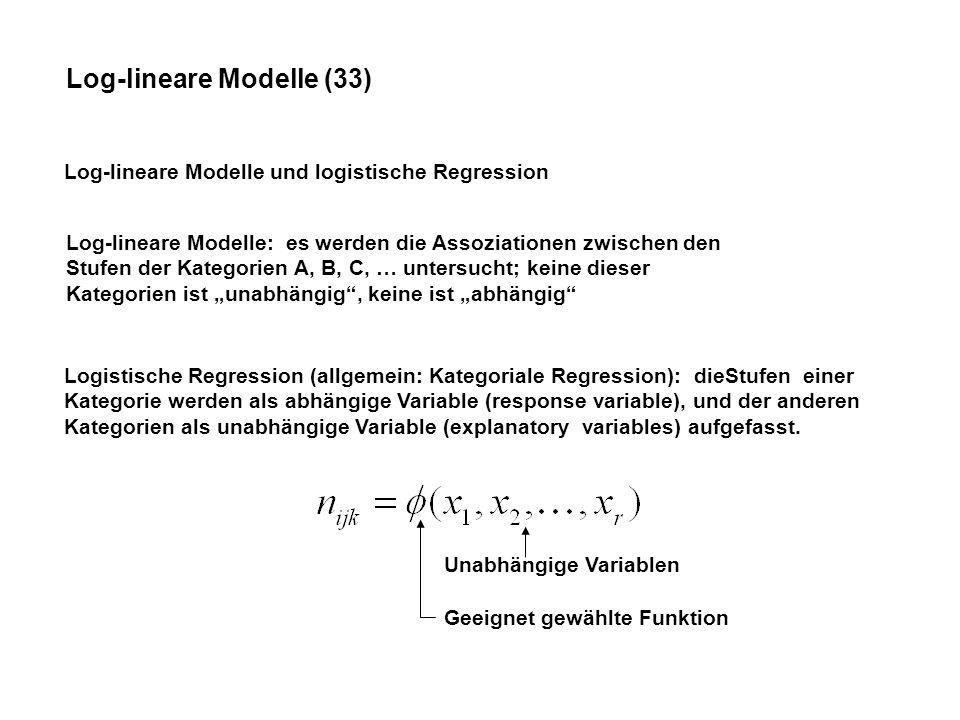 Log-lineare Modelle (33)